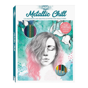 Pop Colour: Metallic Chill Colouring and Activity Kit