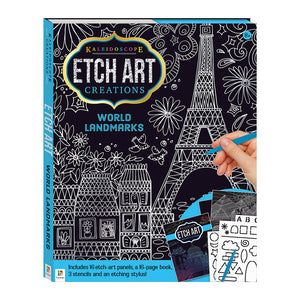 Kaleidoscope Etch Art Creations: World Landmarks