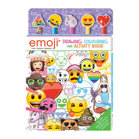 Emoji Drawing, Colouring and Activity Book