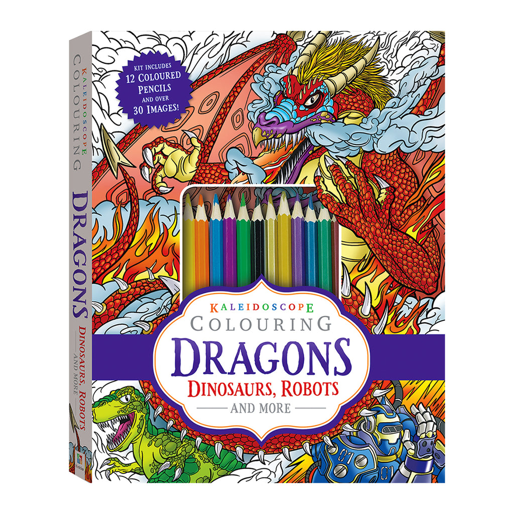 Kaleidoscope Colouring: Dragons, Dinosaurs, Robots and More