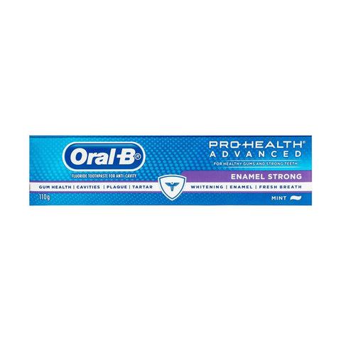 6 x Oral-B Toothpaste Enamel Strong Mint 110g