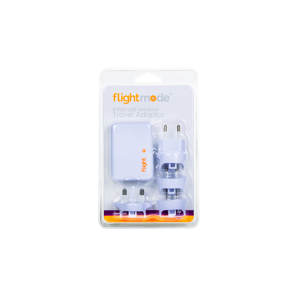 Flightmode 4 Port USB Universal Travel Adaptor