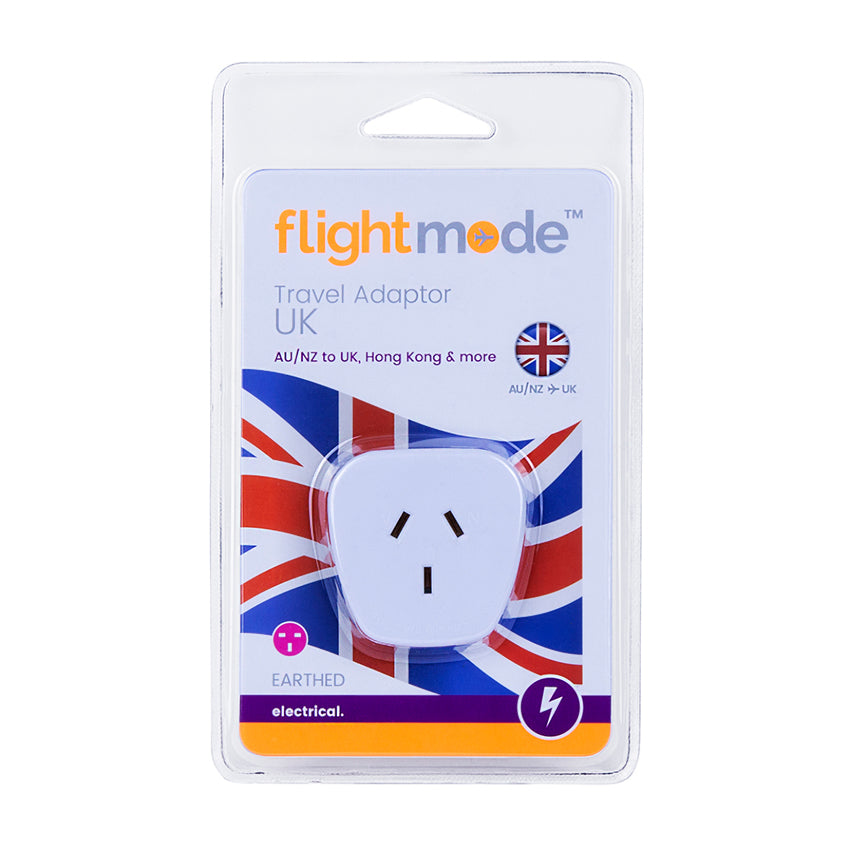 Flightmode Travel Adaptor AU/NZ to UK/Hong Kong