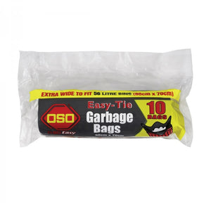 OSO Easy-Tie Garbage Bags 56L 10 bags