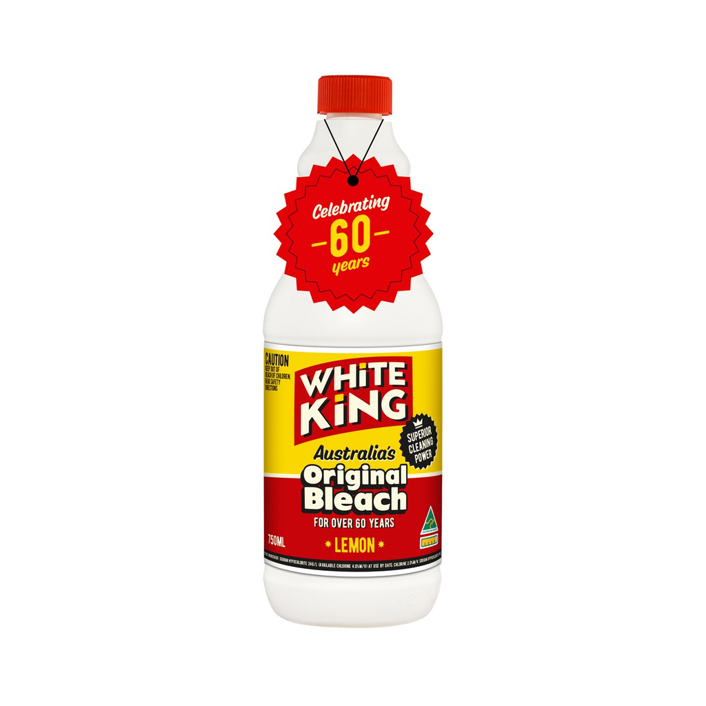White King: Australia's Original Lemon-Scented Bleach (750ml)