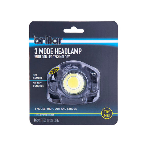 Brillar - 3 Mode Headlamp With COB LED Technology
