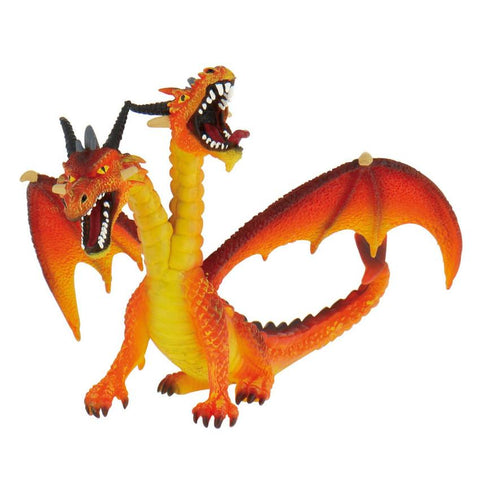 Bullyland Orange Double Headed Dragon Figurine