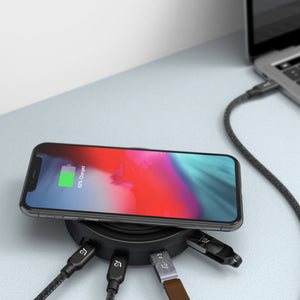 Adam Elements USB-C 3.1 - 7 port Wireless Charger Hub