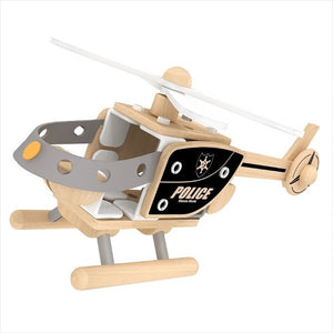 Classic World - Police Helicopter Building Set