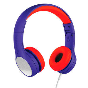 LilGadgets Connect+ Style Childrens Wired Headphones - Blue + Red
