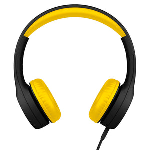 LilGadgets Connect+ Style Childrens Wired Headphones - Black + Yellow