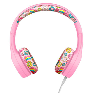 LilGadgets Connect+ Style Childrens Wired Headphones - Pink Doughnuts