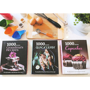 1000 Recipe Cook Books (3 Books)