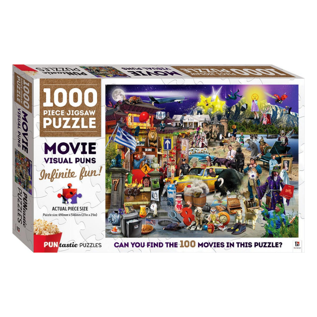 Puntastic Puzzles: Movies 1000-Piece Jigsaw Puzzle