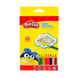 Play-Doh Jumbo Colour Pencils - 12 Pack
