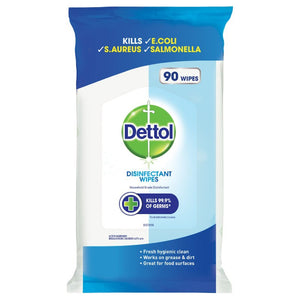 Dettol Household Grade Disinfectant Wipes - 90 Pack