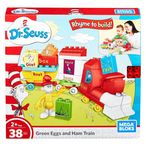 Mega Bloks Dr. Seuss Green Eggs and Ham Train Building Set