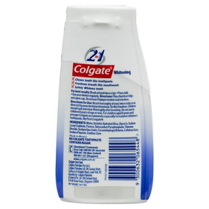 Colgate 2-in-1 Toothpaste & Mouthwash Whitening Liquid gel (130g)