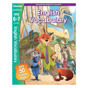 Zootropolis - English Vocabulary - Learning Workbook (Ages 6 - 7)