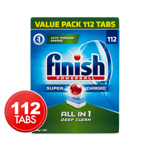 Finish Powerball All in 1 Deep Clean 112 Tabs Value Pack
