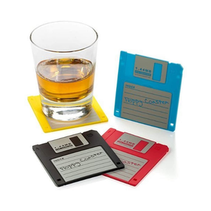 Floppy Disk Coasters (4 Pack)