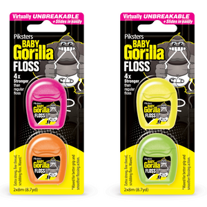 2 x Piksters Baby Gorilla Floss Twin Pack 8m
