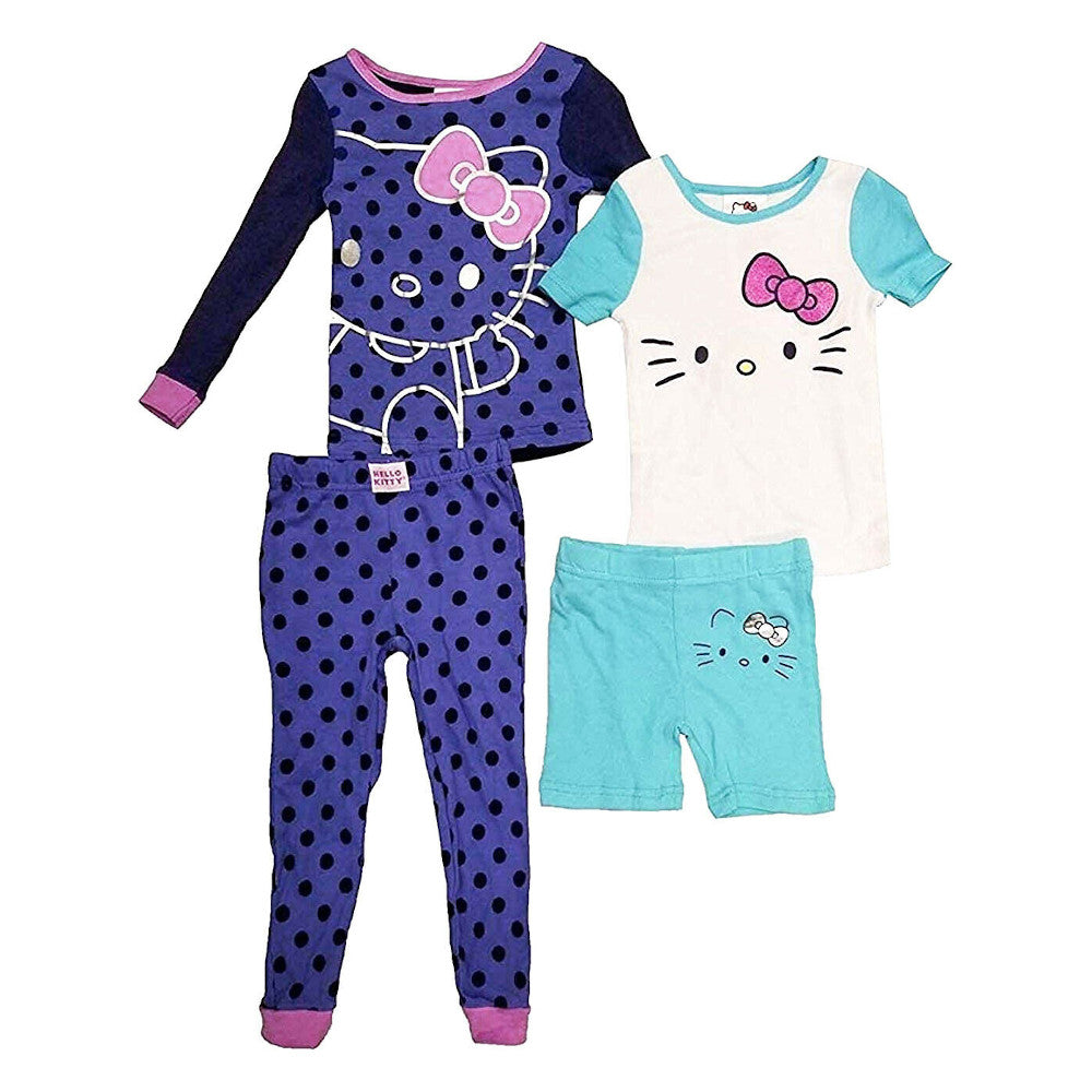 Hello Kitty 4 Piece Pyjama Set for Girls by Komar Kids