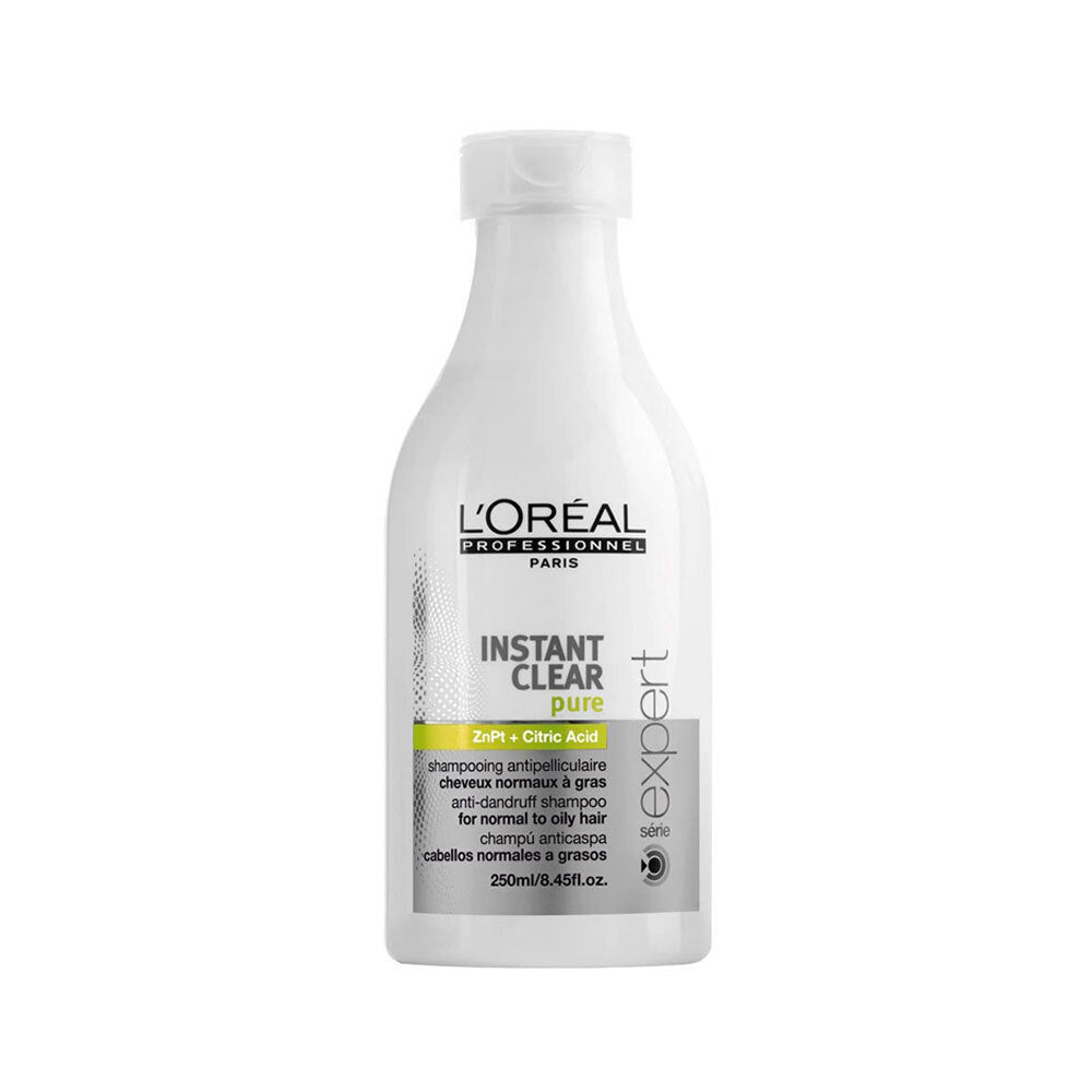 L'Oreal Instant Clear Pure Anti Dandruff Shampoo Normal To Oily Hair 250ml