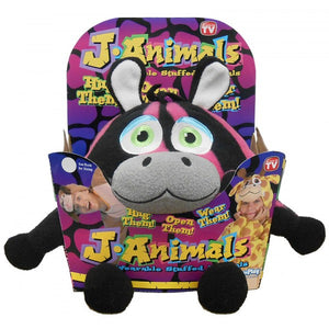J Animals Wearable Stuffed Animals - Zebra