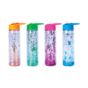 Lazy Dayz BPA Free Glitter Water Bottle 600mL