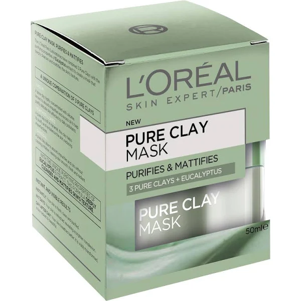 L'Oréal: Pure Clay Mask (3 Pure Clays + Eucalyptus)