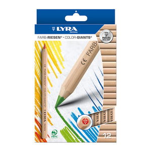 Lyra Colour-Giants Colouring Pencils - 12 Pack