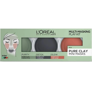 L'Oreal Paris Pure Clay Multi-Masking Face Mask Play Kit 3x10ml