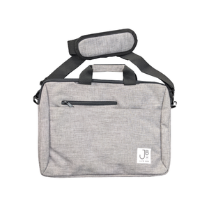 Jack Bee Grey Canvas Laptop Bag