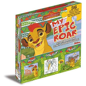 Disney's The Lion Guard My Epic Roar Story Book and Jigsaw Puzzle