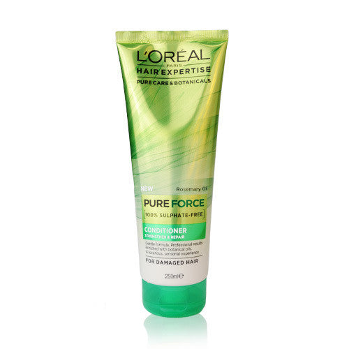 L'Oreal Hair Expertise Pure Force 100% Sulphate Free Conditioner Strengthen & Repair 250ml