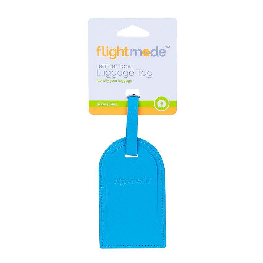 Flightmode Leather Look Luggage Tag
