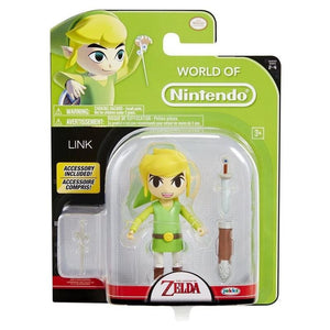 World Of Nintendo - Link Wind Waker With Wand Action Figure 4""