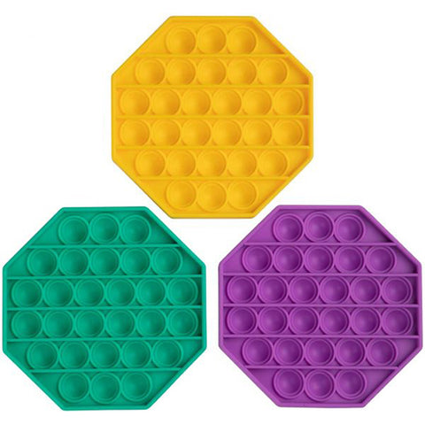 Silicon Popper Sensory Fidget Toys - Hexagon