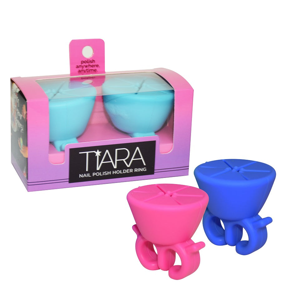 Tiara Nail Polish Holder Ring (2 Pack)