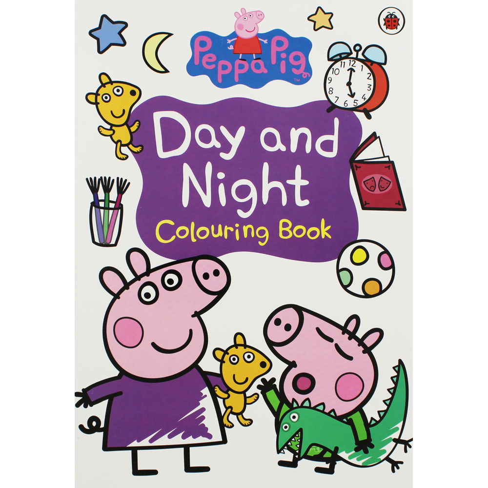 Peppa Pig-Day and Night: Colouring Book