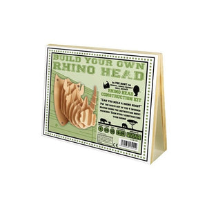 Wooden Construction Rhino Head Puzzle
