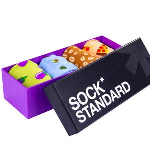 Sock Standard Purple Gift Box - 4 Pack