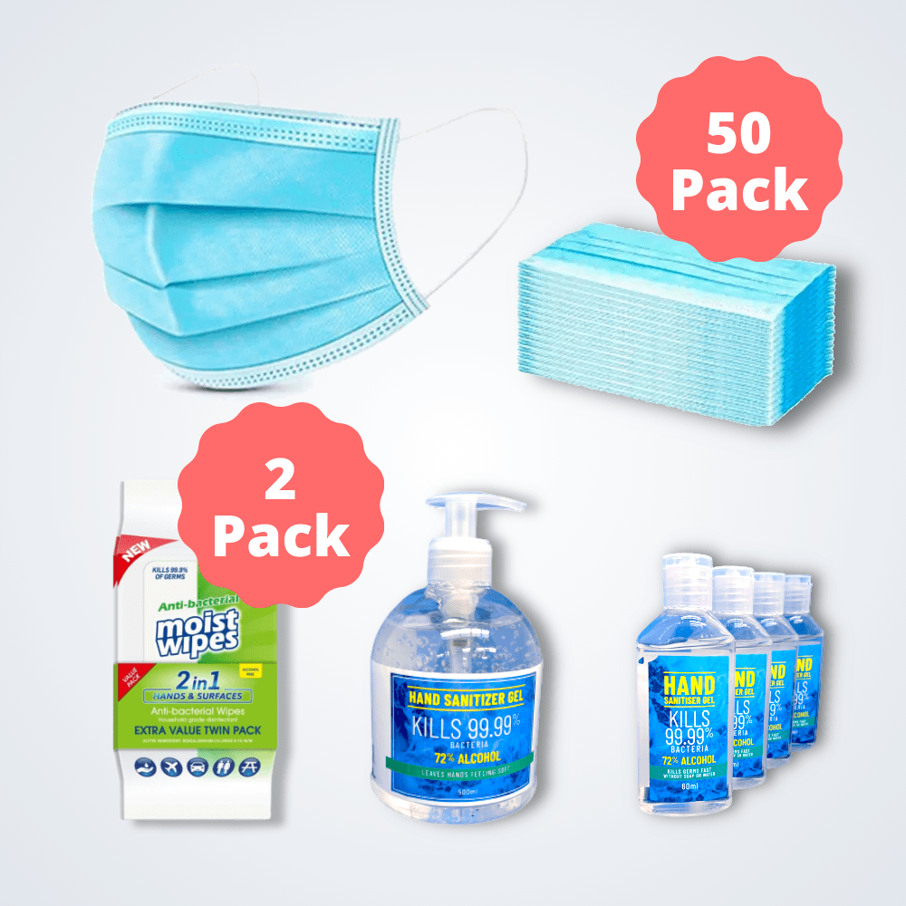 Personal Protection Pack (Masks, Wipes, Sanitiser)