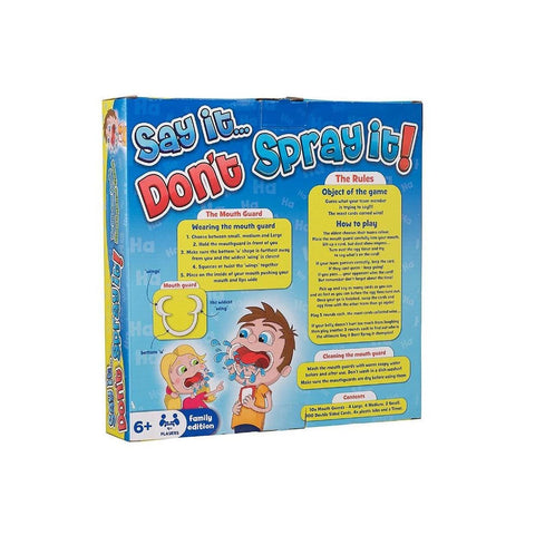 Say It...Don't Spray It! Board Game