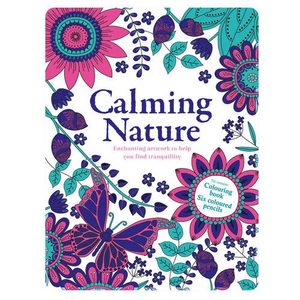 Calming Nature: Colouring Book and Pencil Tin
