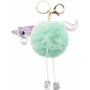 Unicorn Fluffy Keyring