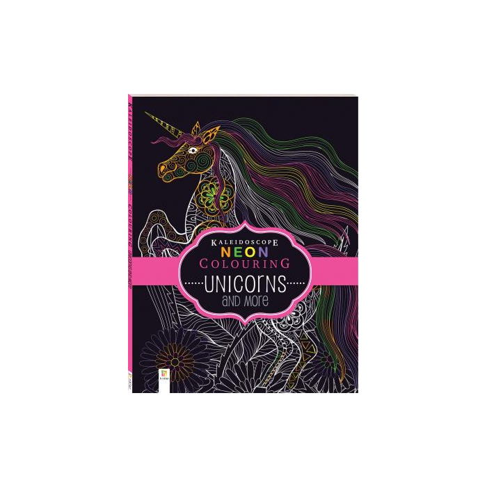 Kaleidoscope Neon Colouring - Unicorns and More