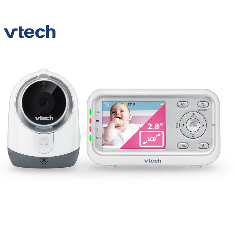 VTech BM3300 Safe & Sound Full Colour Video & Audio Baby Monitor - White