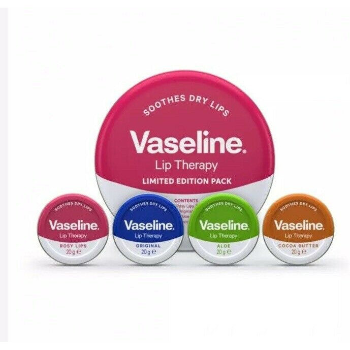 Vaseline Lip Therapy Limited Edition 4 Pack 20g